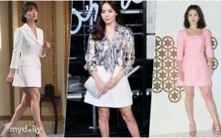 Từng nhiều lần bị chê chân thô, Song Hye Kyo của hiện tại đã tự tin khoe đôi chân dài nuột nà